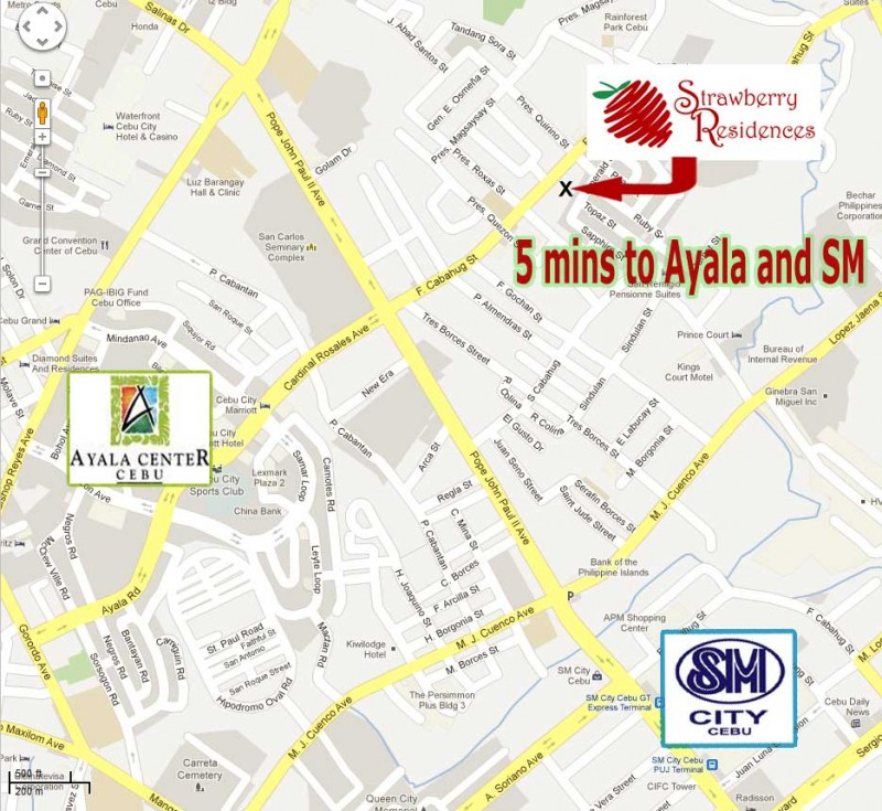 strawberry residences Cebu City Map